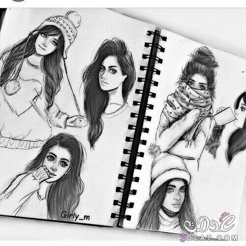 اروع صور بنات مرسومة بالقلم الرصاص 2019 صور مرسومة مميزة 2019 صور بنات مرسومة حديثة 2019 Girly M Girly Drawings Girly M Instagram