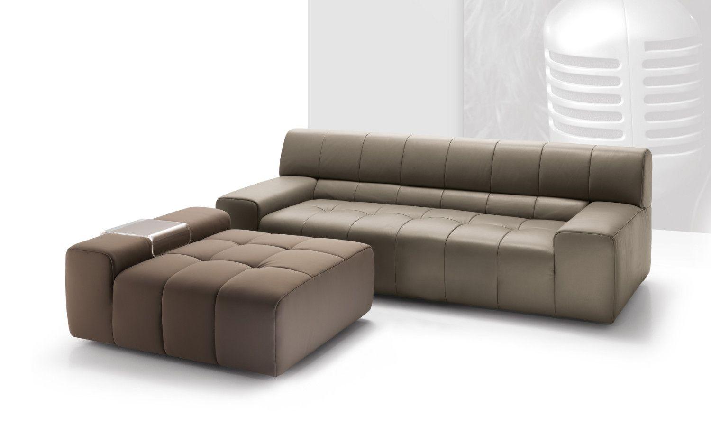 Nicoline Bric Sofa Beige Leather Sectional Sofa