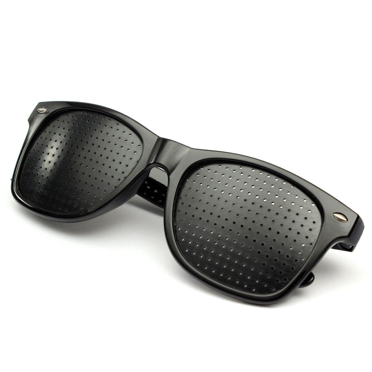 Anti-fatigue Pinhole Glasses Black Color Adjust Vision Eye