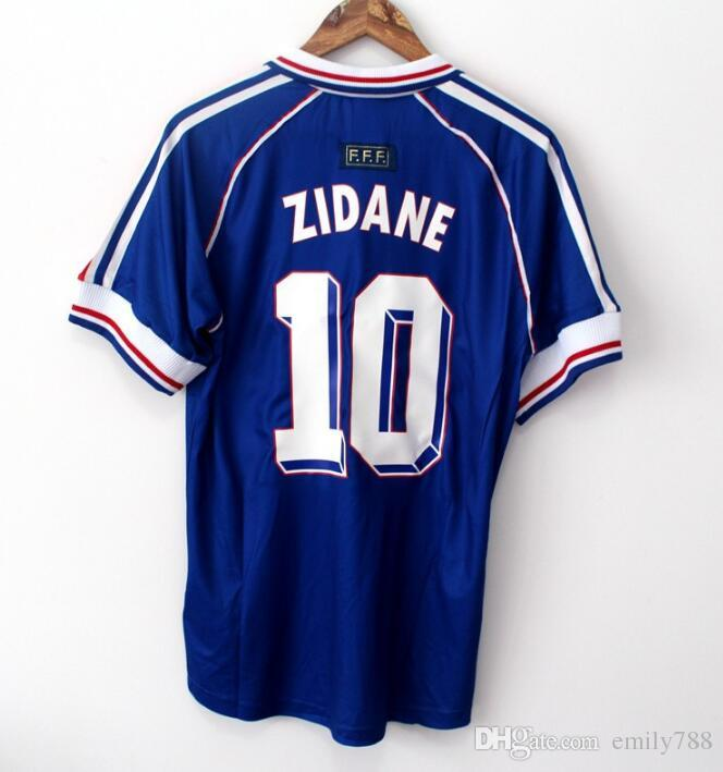 France Zidane#10 Away Retro Soccer Jersey 1998
