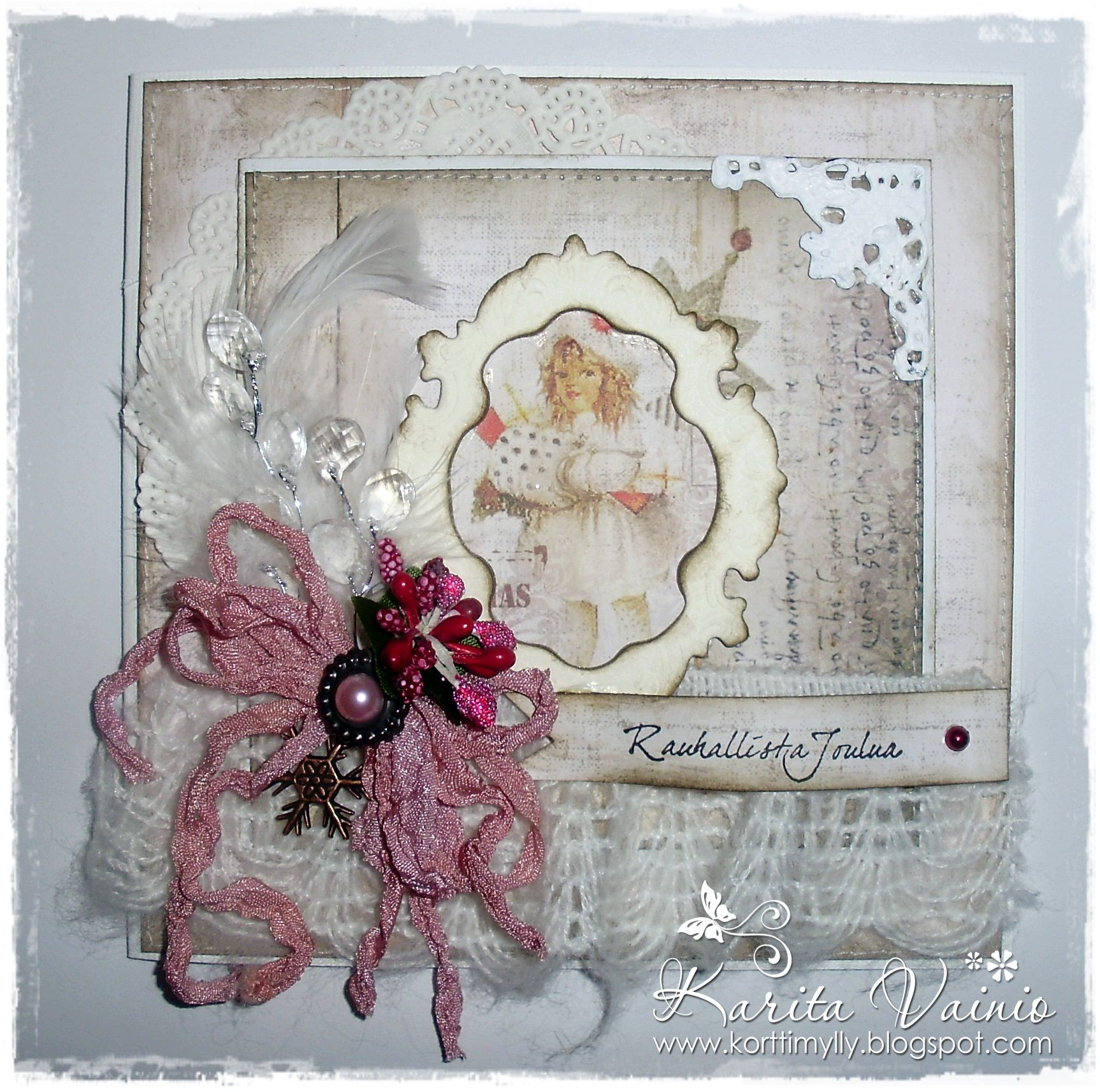 Shabby christmas card from Fabscrap