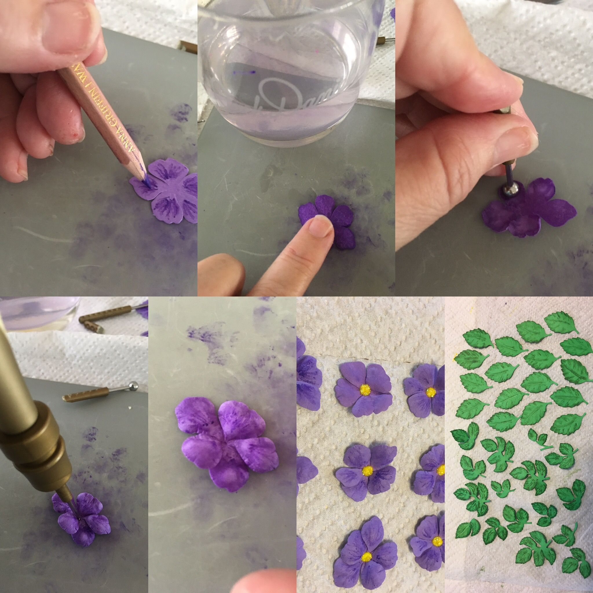Making Paper Violets My Step By Step Process I Used Anna