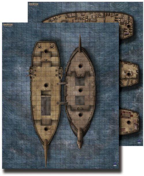GameMastery Flip-Mat: Pirate Ship -- 24