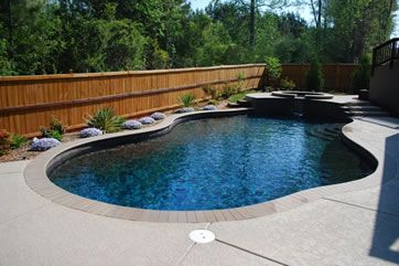 Pool Installation And Design With Spa And Custom Pool Deck In Spanish Fort Al Pool Colors Inground Pool Designs Spa Pool