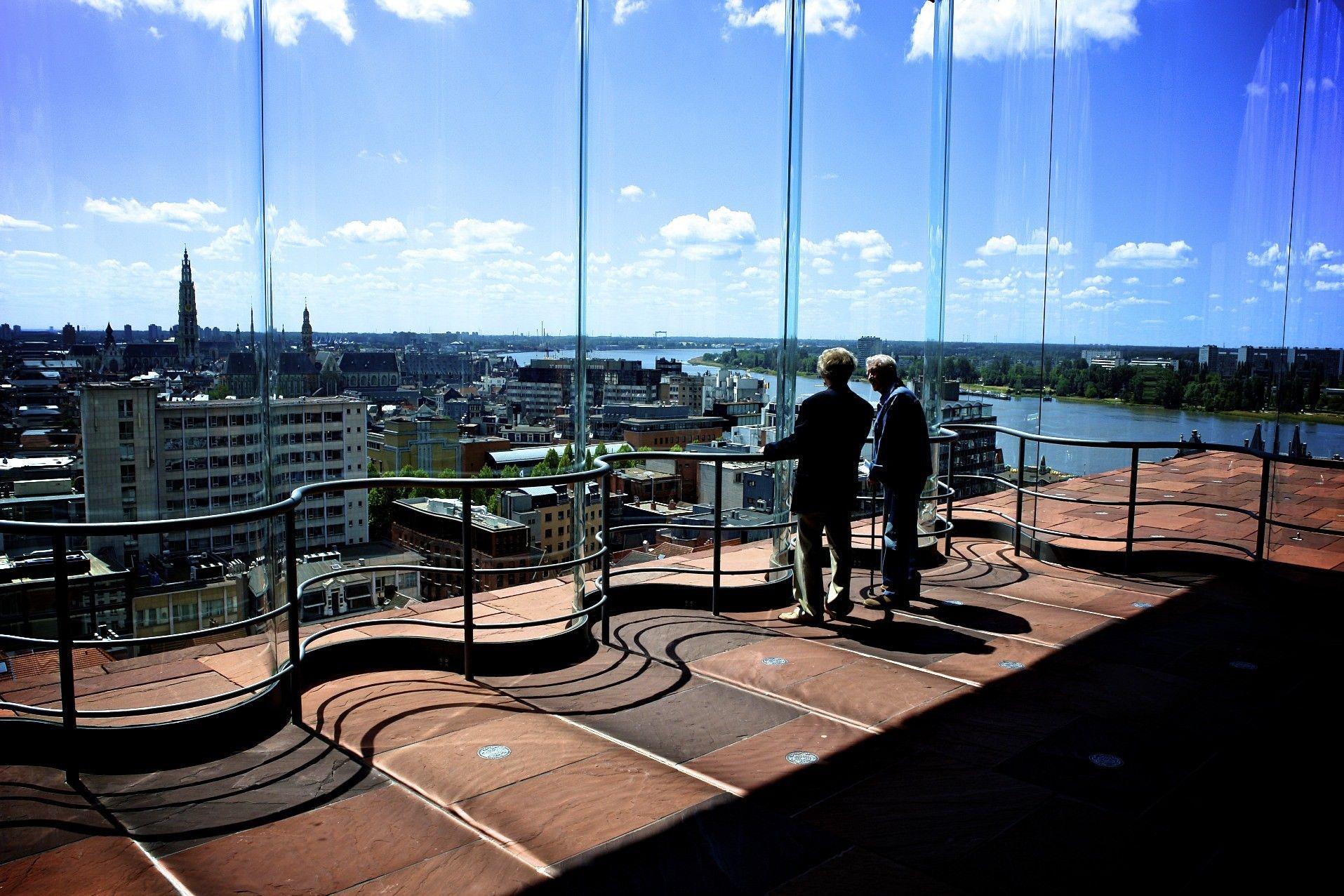 360 graden uitzicht over Antwerpen in het Museum aan de Stroom (MAS)