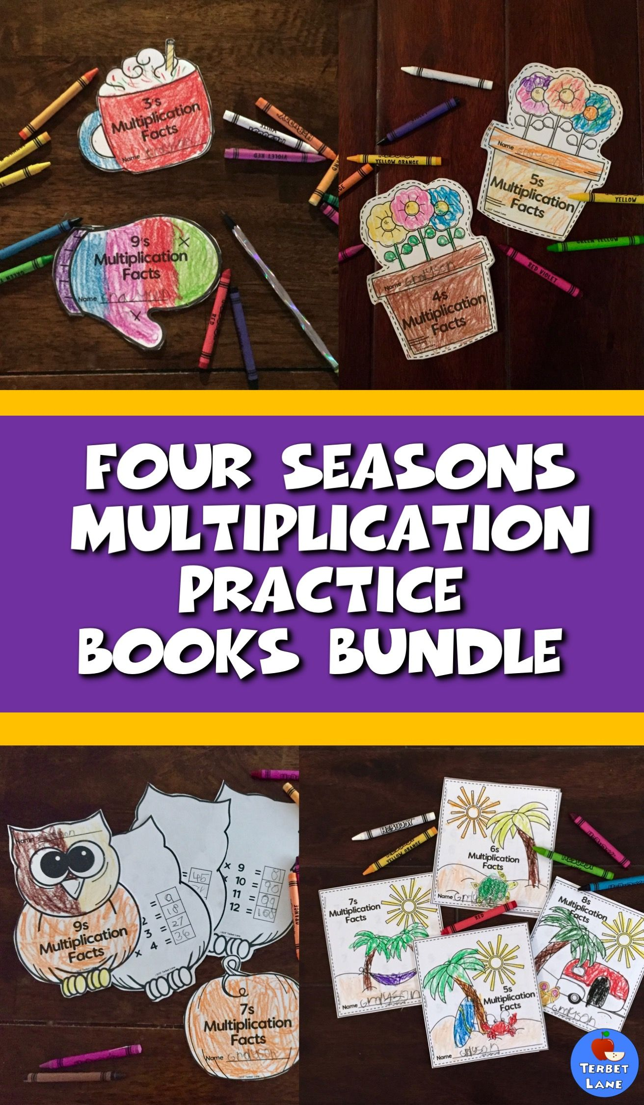 Distance Learning Four Seasons Multiplication Facts