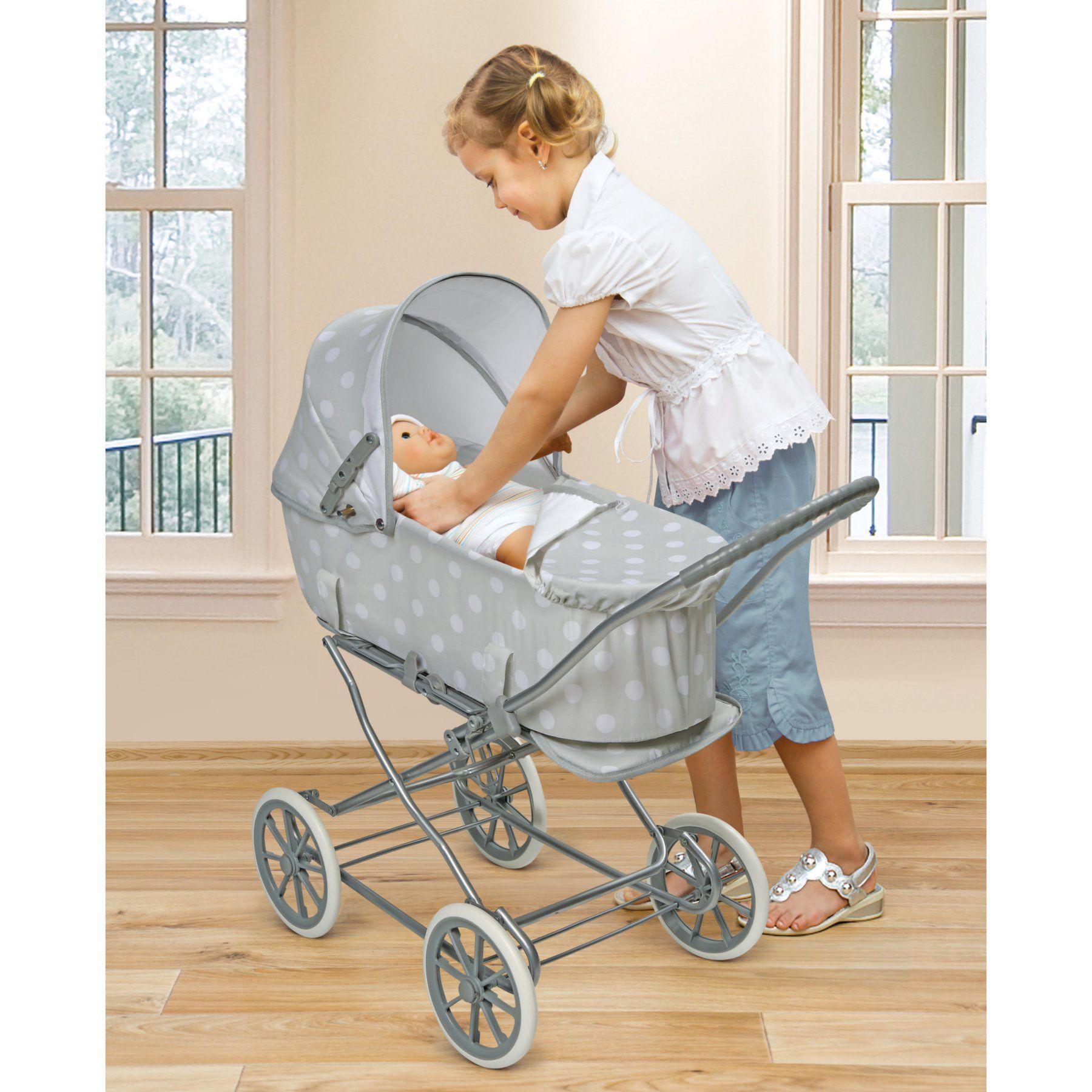Badger Basket Just Like Mommy 3in1 Doll Pram Gray