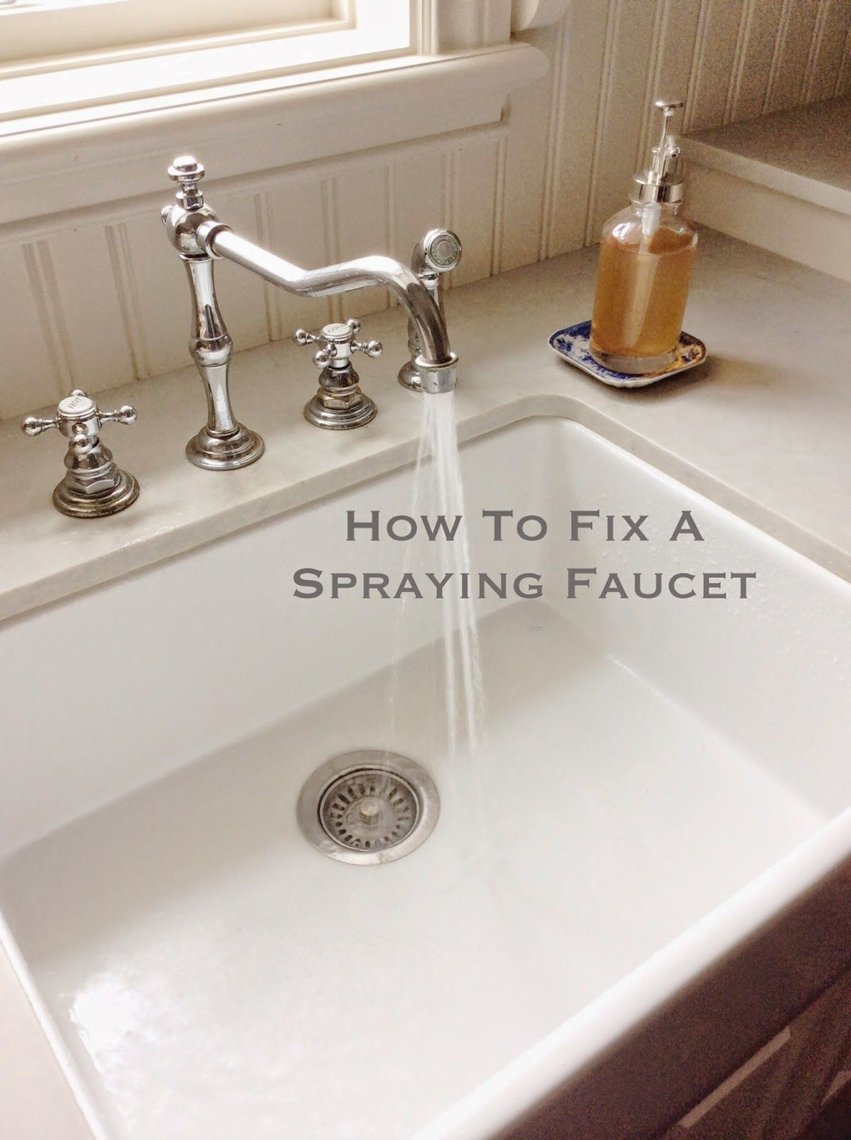 How To Fix A Spraying Faucet Faucet Diy Home Repair Fix It