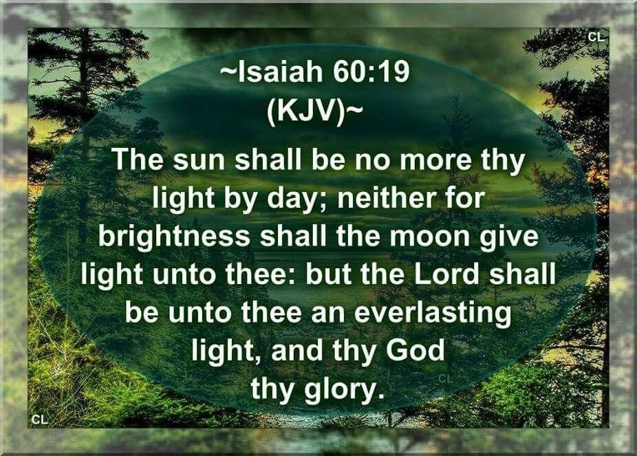Isaiah 60:19 KJV