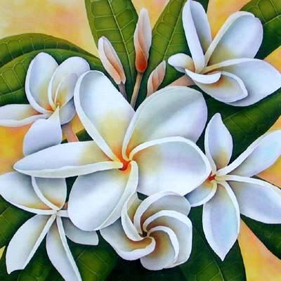 Silk painting frangipani silk paintingsbatik pinterest silk silk paintings of white flowers mightylinksfo