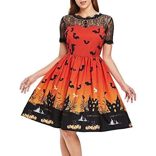 0df07fd4da1 DEATU Ladies Halloween Dress