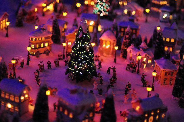 Mini Christmas Village Christmas villages, Christmas village