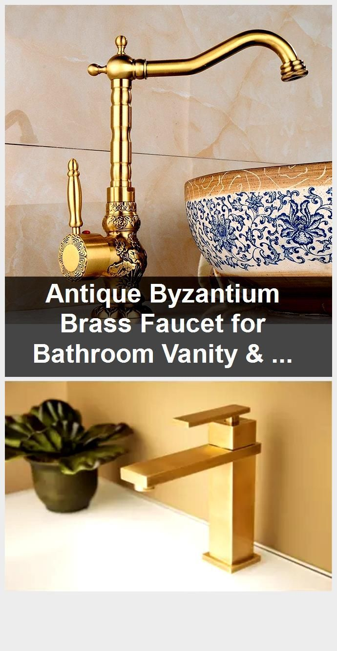 Photo of Antique Byzantium Brass Faucet for Bathroom Vanity & Vessel Sink.,  #Antique #Bathroom #Brass…