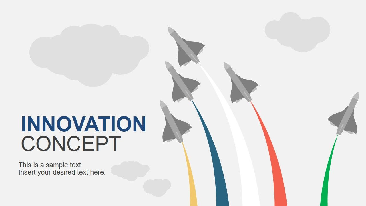 Innovation concept powerpoint template template innovation concept powerpoint template create professional innovations presentations with the innovation concept of flying jets toneelgroepblik Images