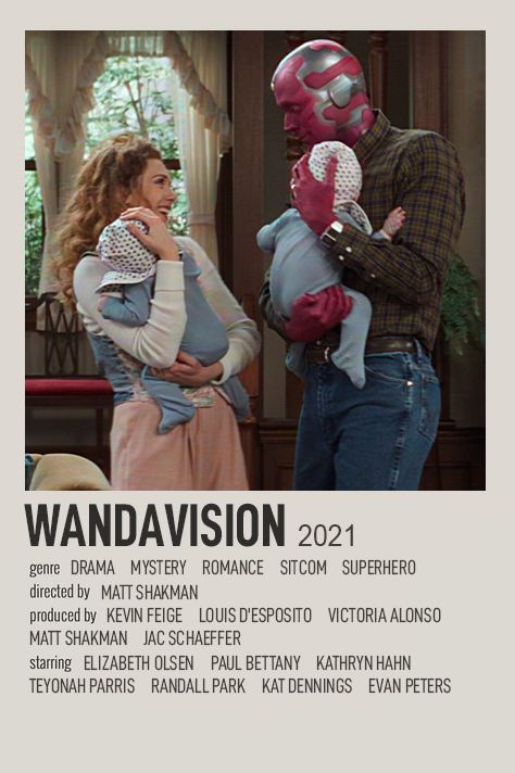 WANDAVISION POLAROID TV SHOW POSTER