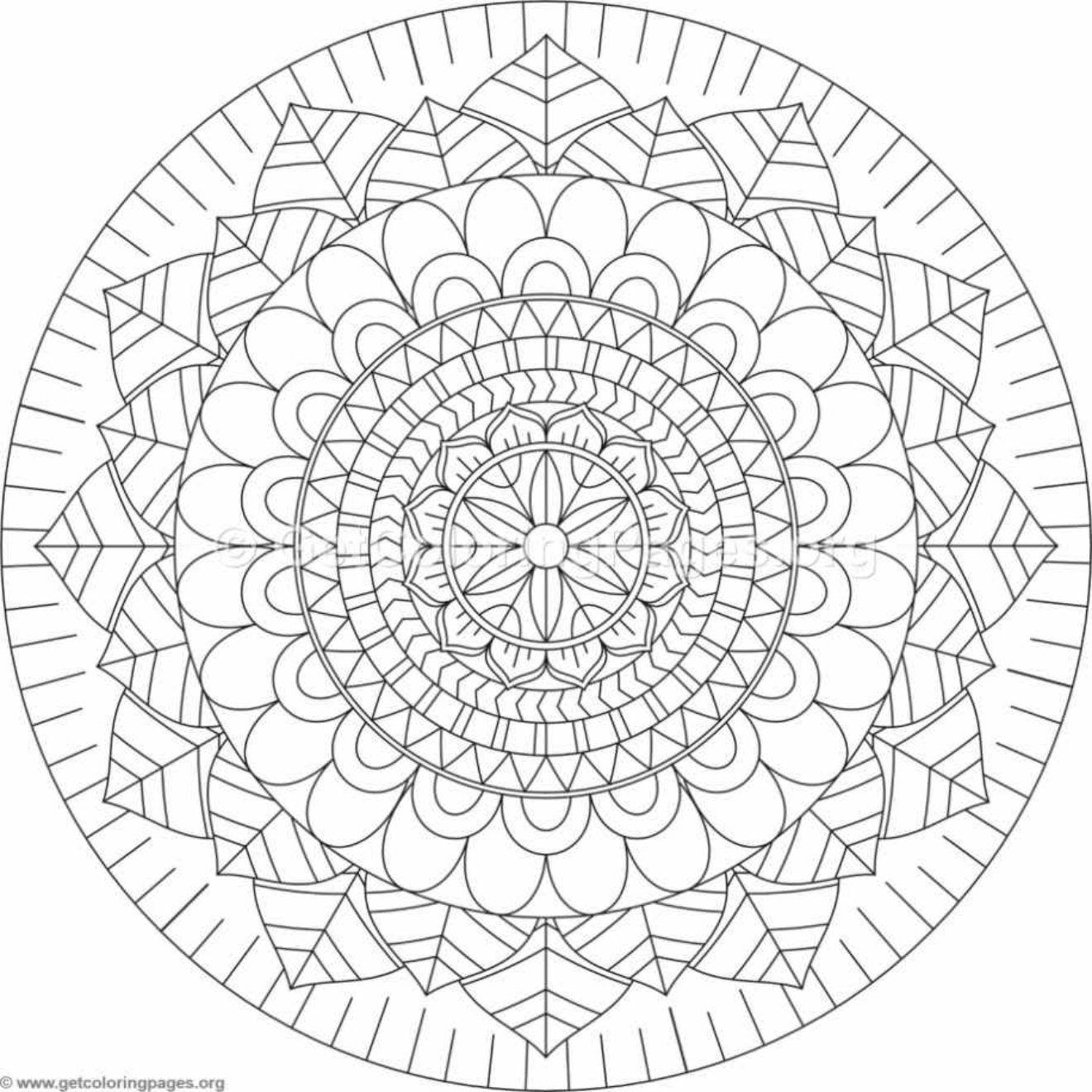 Blank Mandala Coloring Pages Photos