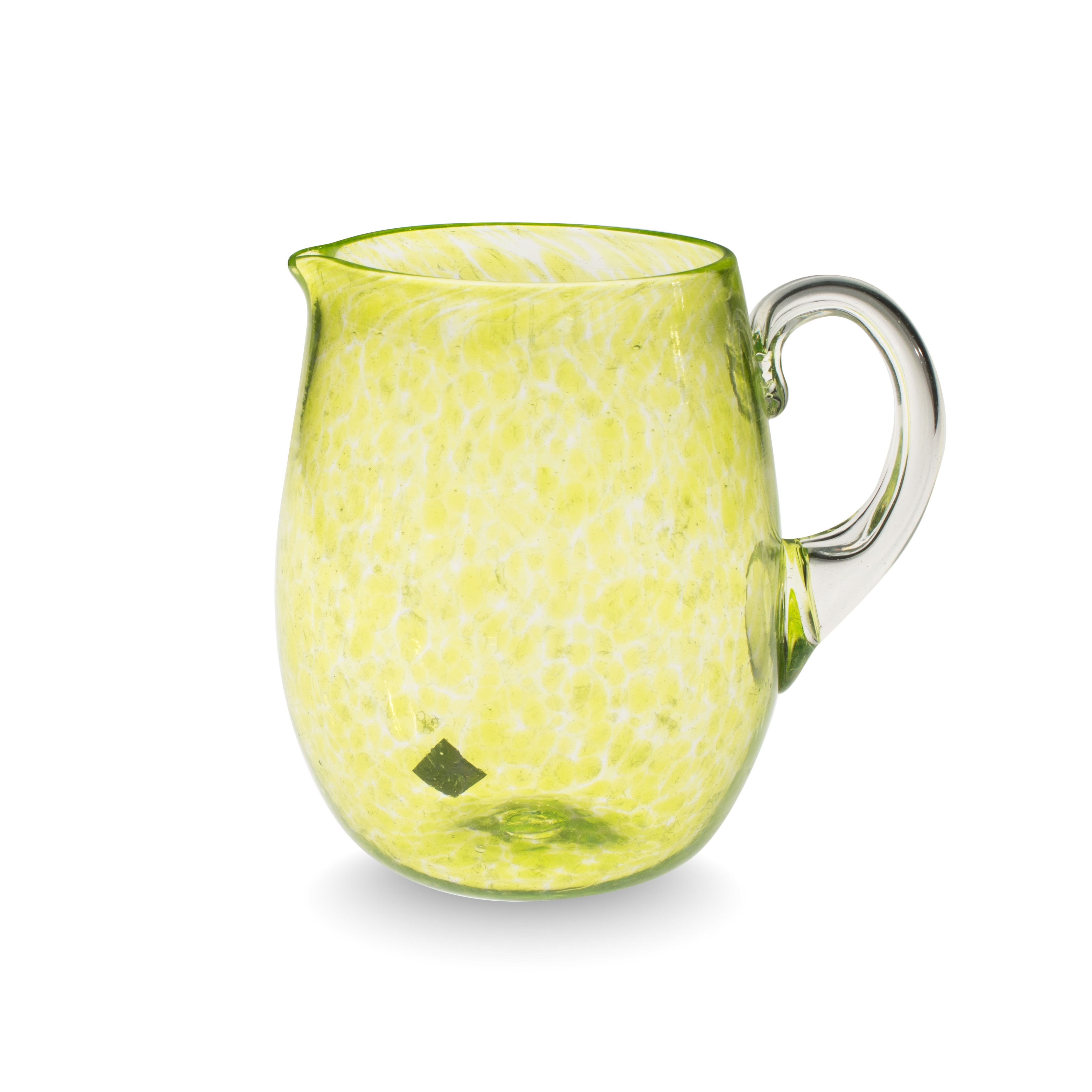 """Glow"" Jug - Murano Glass, € 190,00 by #AbateZanetti   http://www.abatezanettimurano.com/en/murano-glass-glassware/jugs/glow-acid-green-jug.html#.VRKXsjuG_7U #glass #verre #tableset #homedecor #handmade #italiandesign"