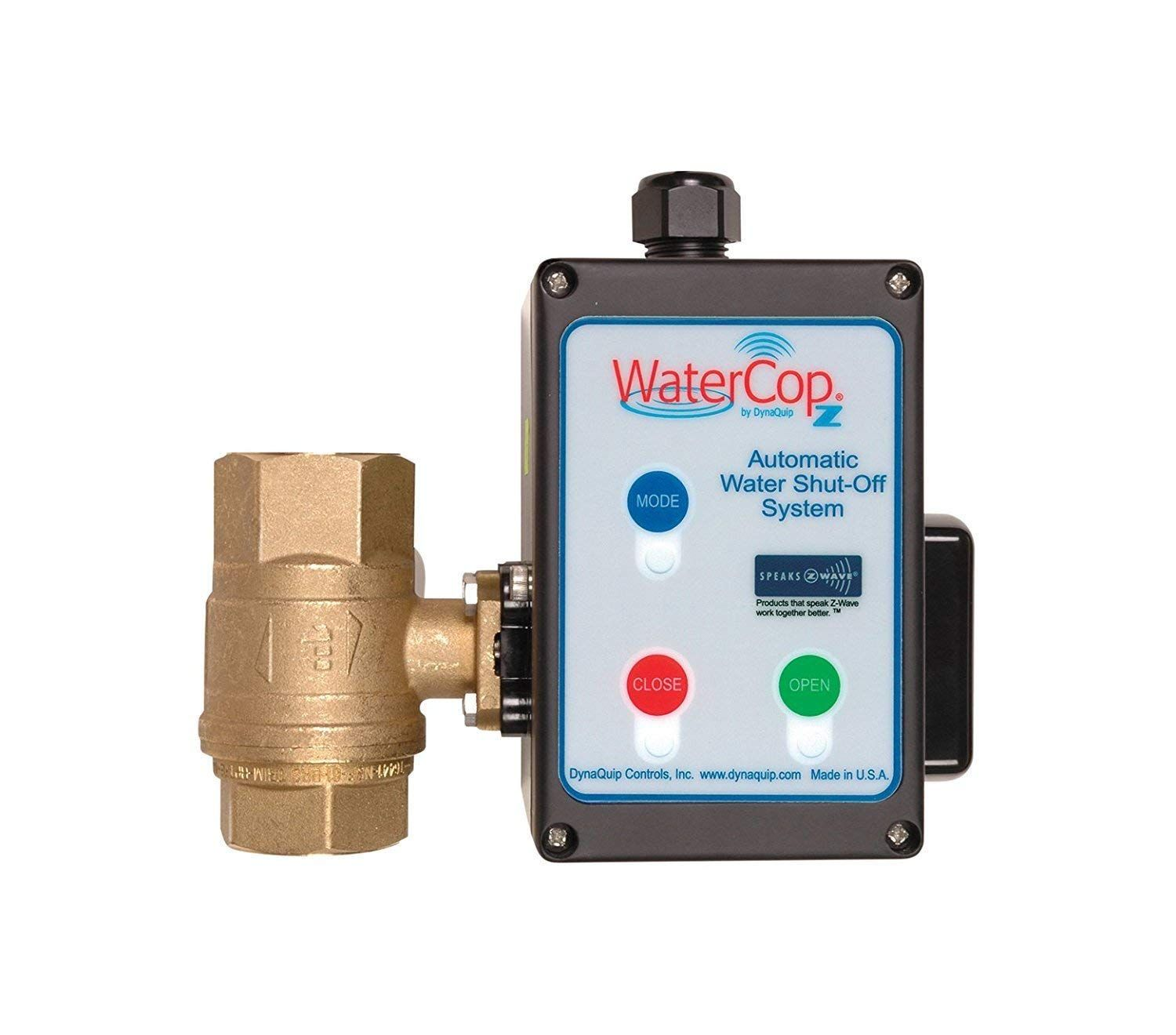 Watercop Z Wave Smart Water Shut Off Valve 1 1 4 Kit Actuator And 1 25 In Valve Leak Prevention Continue To The Product At The Image Flood Prevention Valve