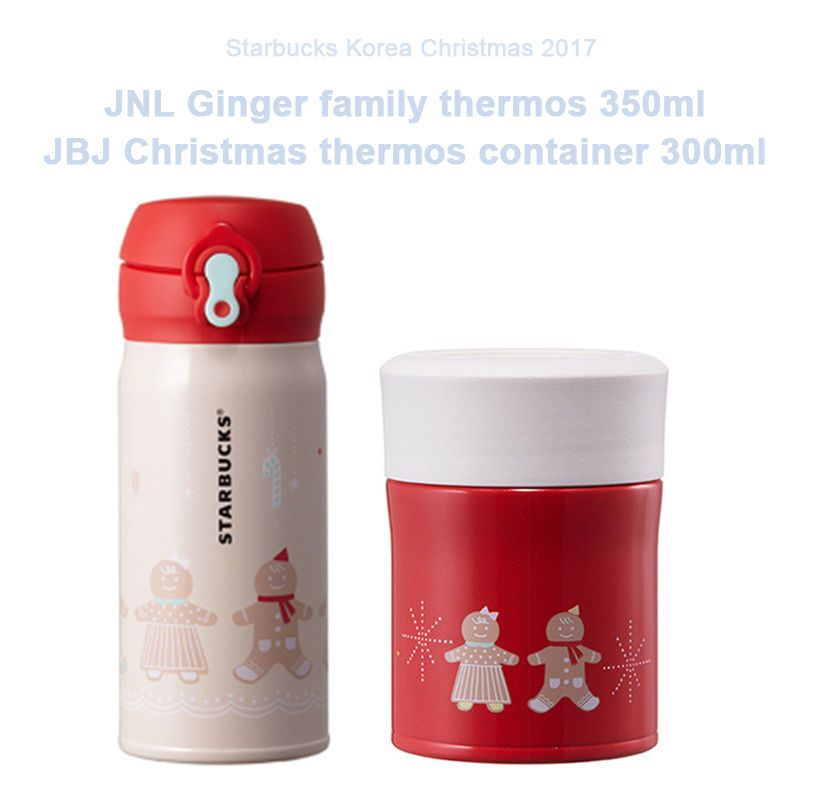 2016 Korea Starbucks Christmas JNL Ginger family thermos JBJ thermos container | Collectibles, Advertising, Food & Beverage | eBay!