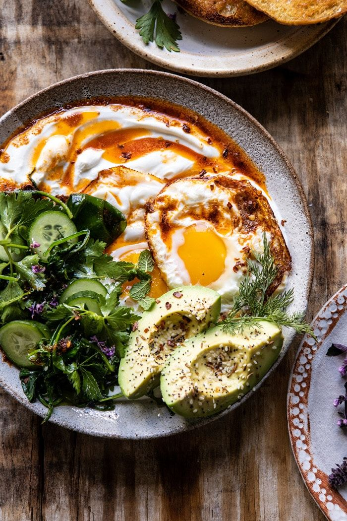 Turkish Eggs with Chile Butter and Whipped Feta.