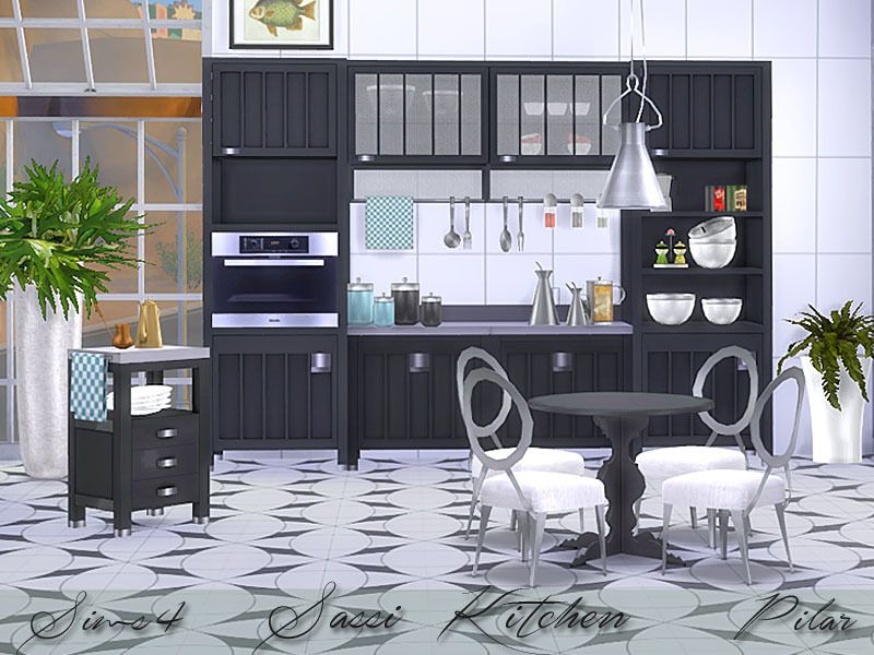 The sims 4 pilar kirchen sassi buy mode new objects for Kitchen set sims 4