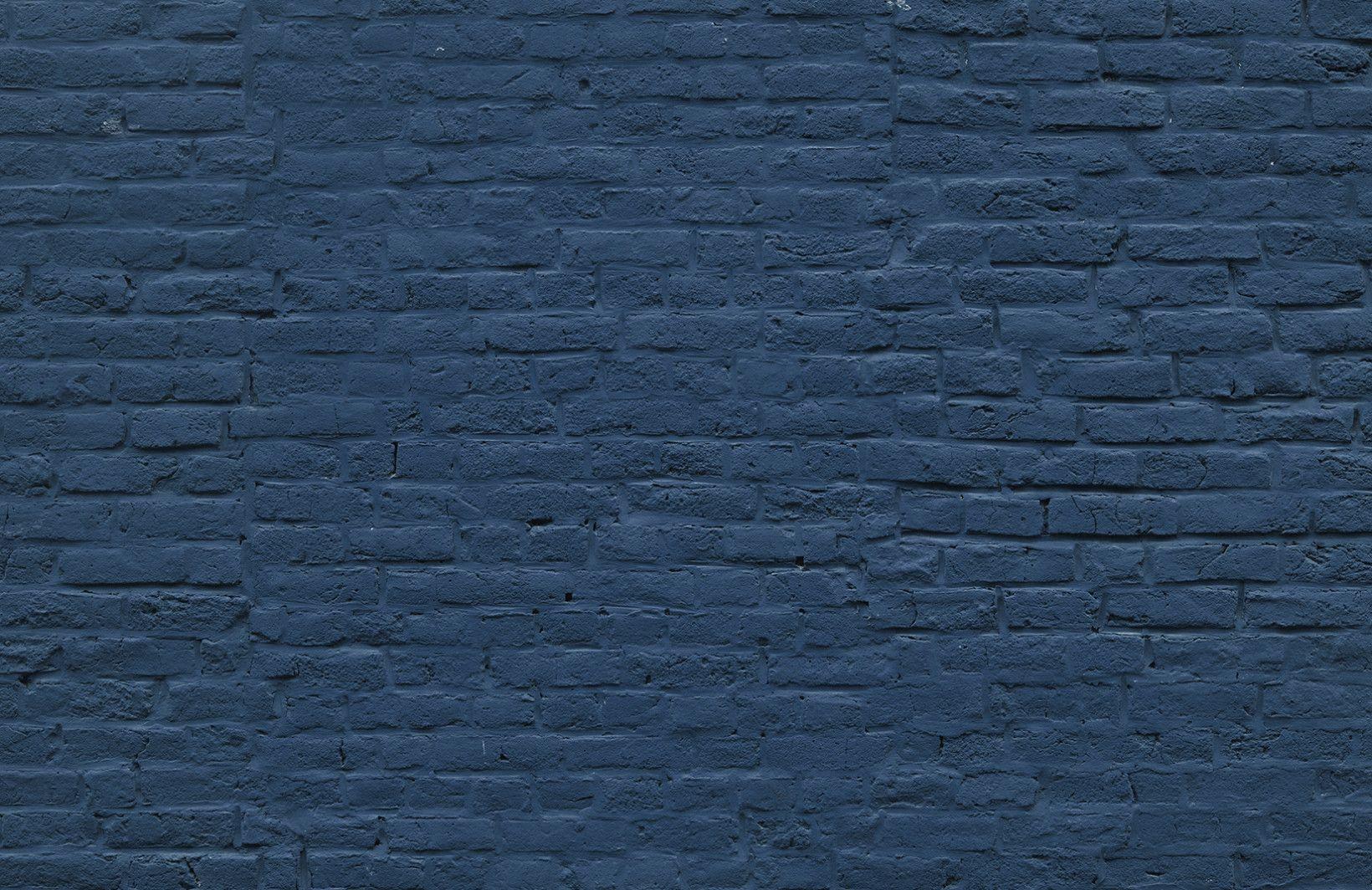 Navy Blue Brick Wallpaper Dark Brick Effect