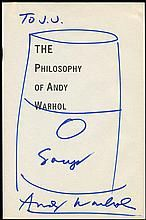 1970s ANDY WARHOL SIGNATURE & SOUP CAN SKETCH, INSCRIBED ON TITLE PAGE