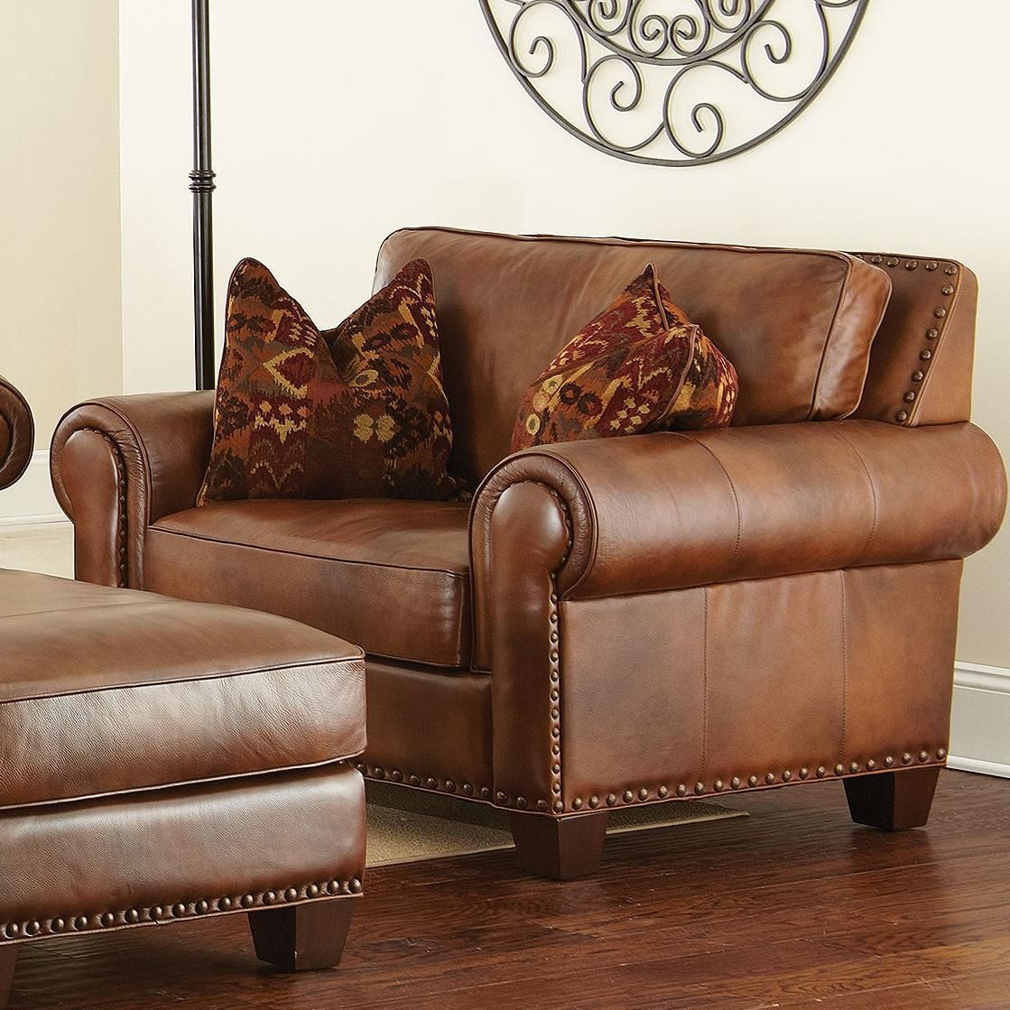 Silverado Traditional Chair And A Half With Nailhead Trim By
