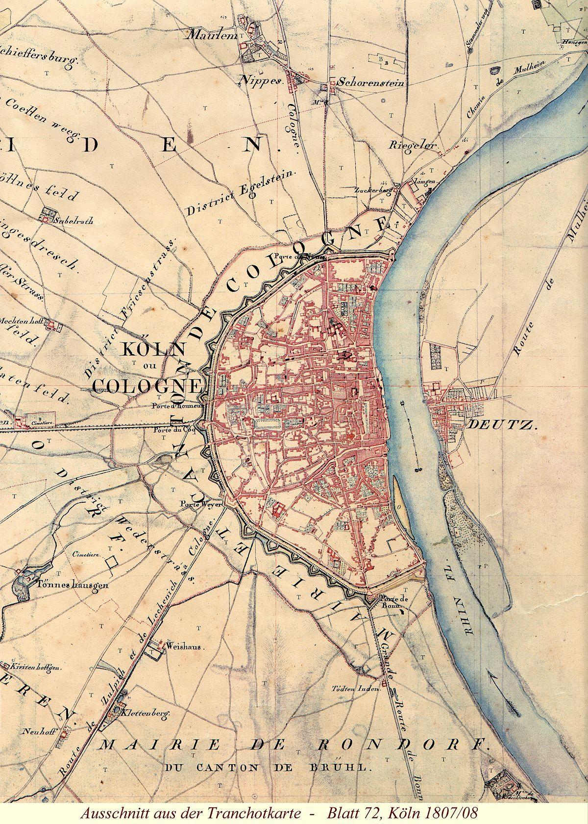 Kanton Koln Wikipedia Koln Karte Historische Karten Landkarte
