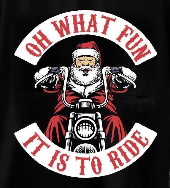 Biker Santa Motorcycle Christmas Harley Davidson Biker Love