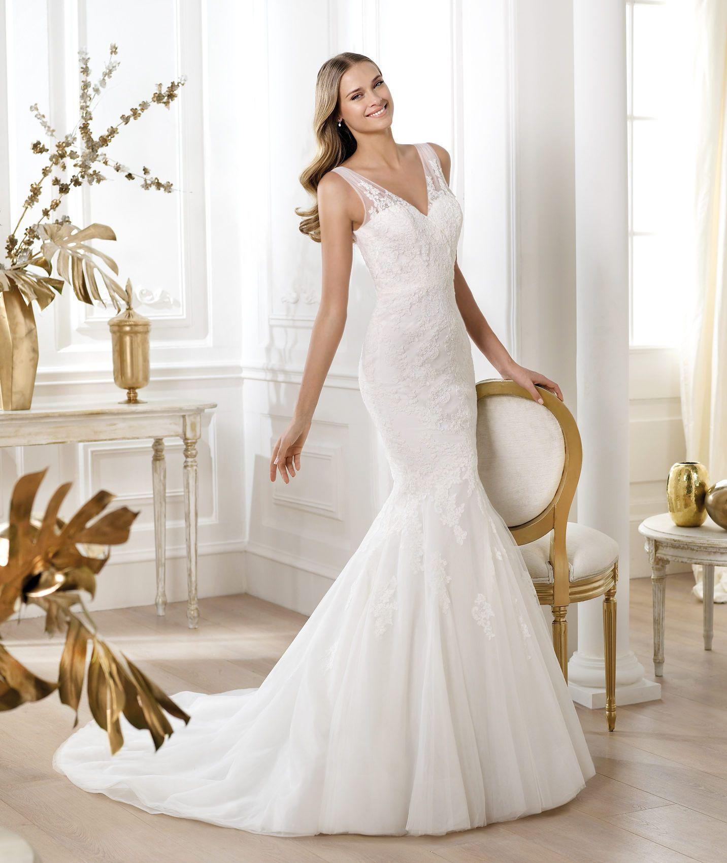 Pronovias presents the Lexine wedding dress. Fashion 2014 ...