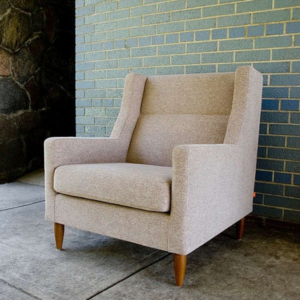Gus* Modern Chair With Tapered Leg