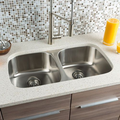 Hahn Chef Series Equal Double Bowl Sink Double Bowl Sink Large