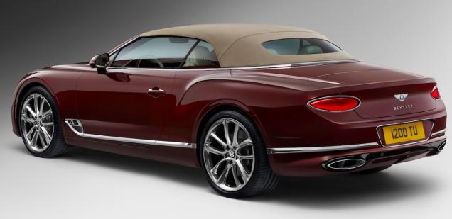 The 2019 Bentley Continental Gt Convertible Has A Tweed Roof Bentley Continental Bentley Continental Gt Bentley Continental Gt Convertible