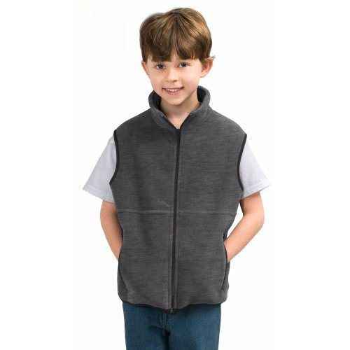 Port Authority Youth R-Tek Fleece Vest, Midnight Heather, XL - http://ridingjerseys.com/port-authority-youth-r-tek-fleece-vest-midnight-heather-xl/