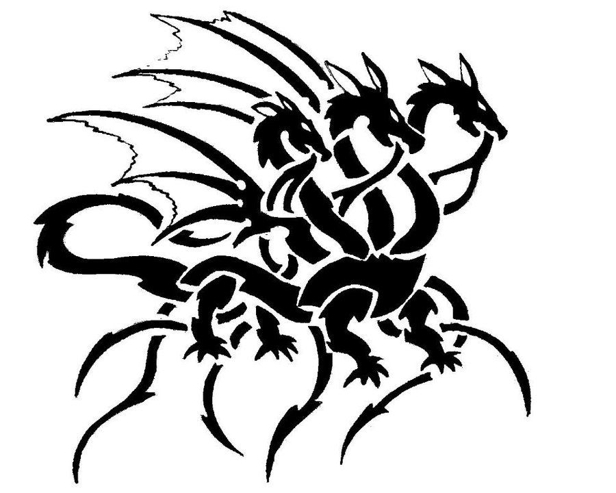 6da23029 three headed dragon by khomesclip on DeviantArt | misc fun | Dragon ...