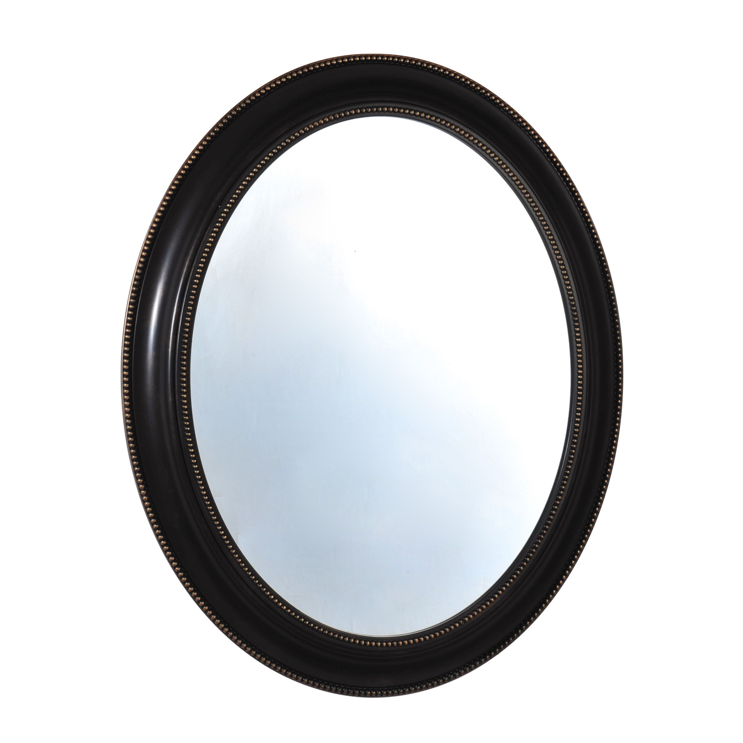 This Elements Black Bead Oval Mirror Features A Simple Traditional
