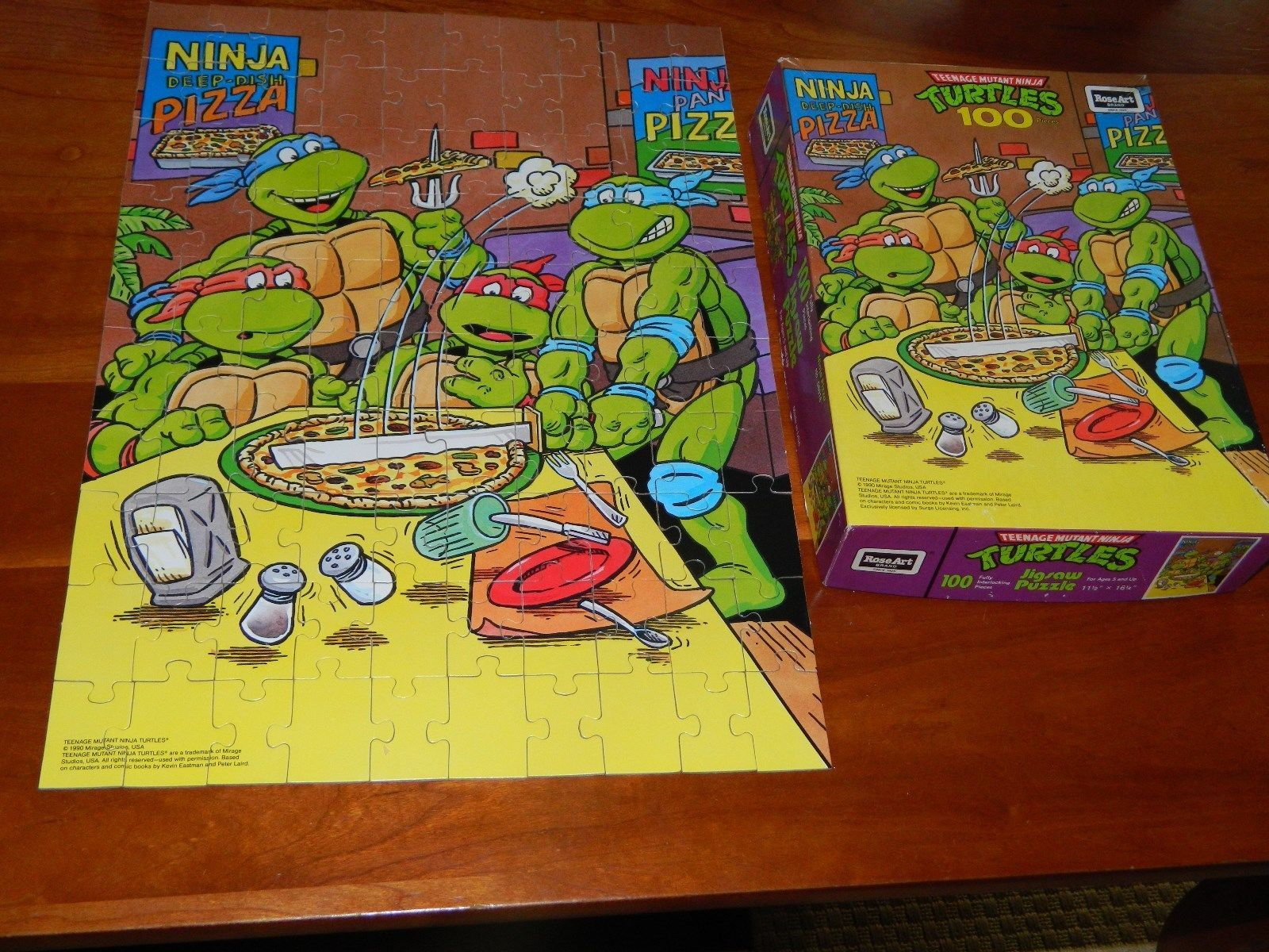 TEENAGE MUTANT NINJA TURTLES PUZZLE 1990 Mirage Studios ...