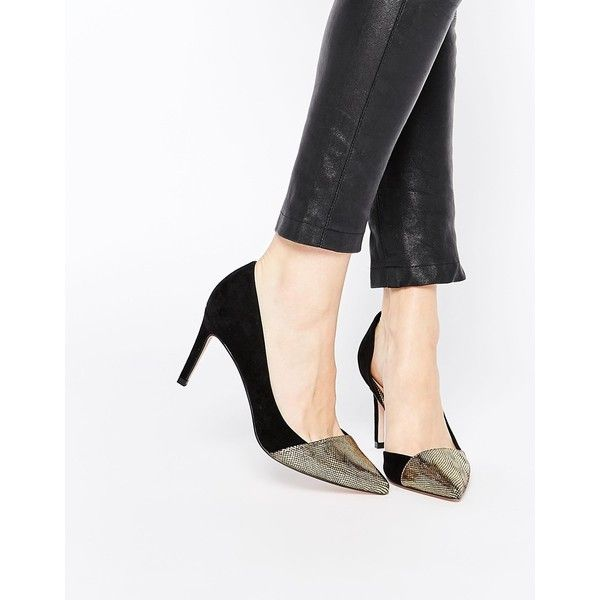 ASOS SANTA CRUZ Wide Fit Pointed Heels 62 AUD ? liked on Polyvore  featuring