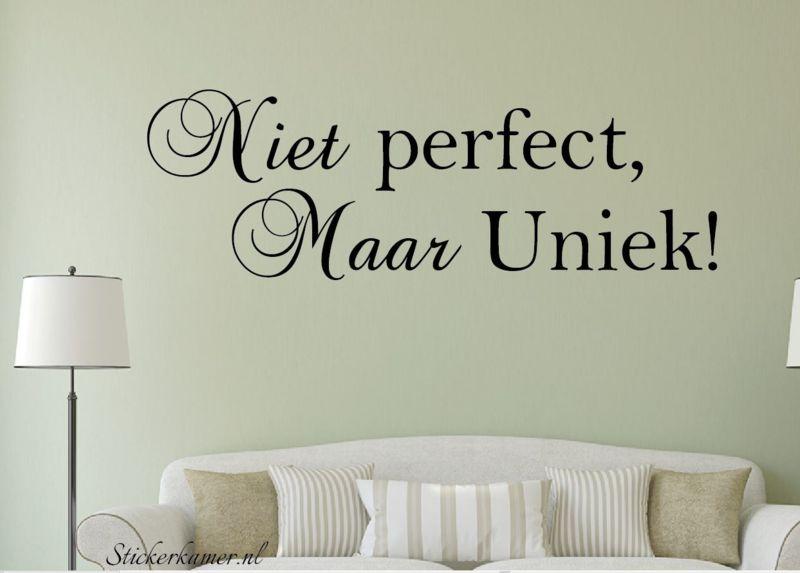 muursticker slaapkamer babykamer niet prefect maar uniek