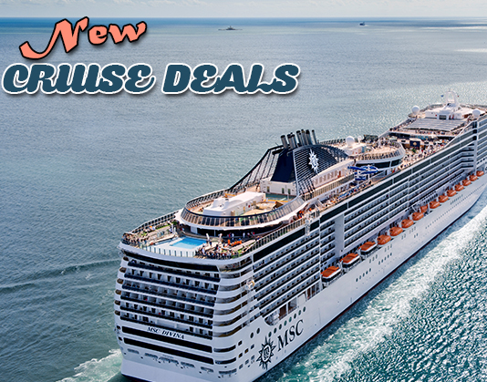 NEW CRUISE DEALS Including A Night Caribbean Cruise On The MSC - Caribbean cruises deals