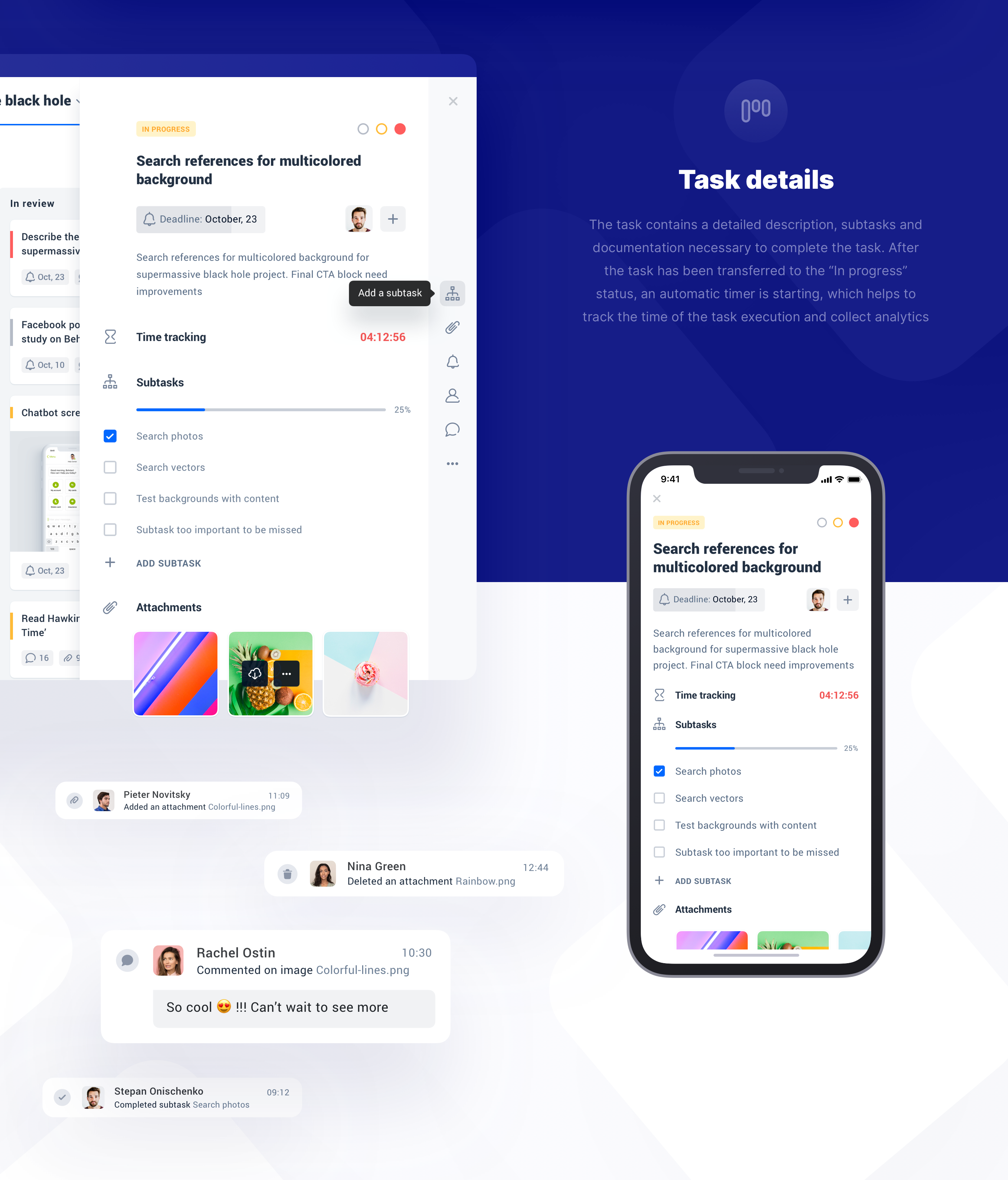 Team & Project Management Tool on Behance in 2020
