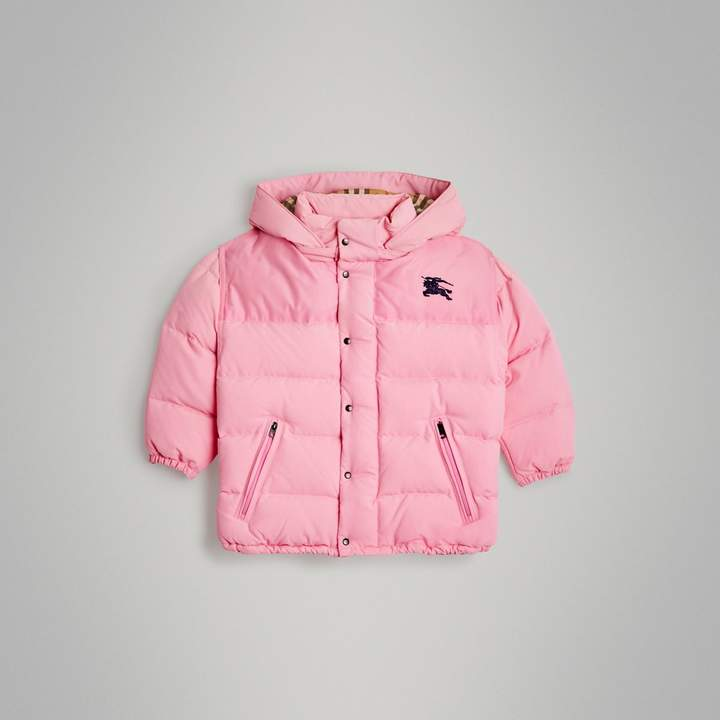 1153be4d0 Detachable Hood Down-filled Puffer Jacket in Ice Pink in 2018 ...