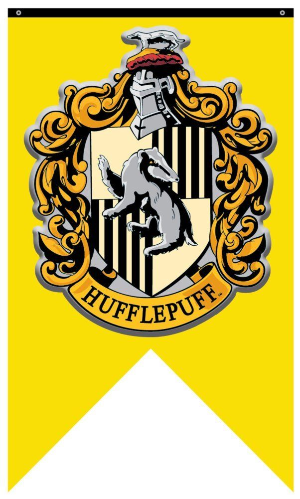 Amazon.com: Harry Potter- Hufflepuff Crest Banner Fabric Poster 30 x 50in: Kitchen & Dining