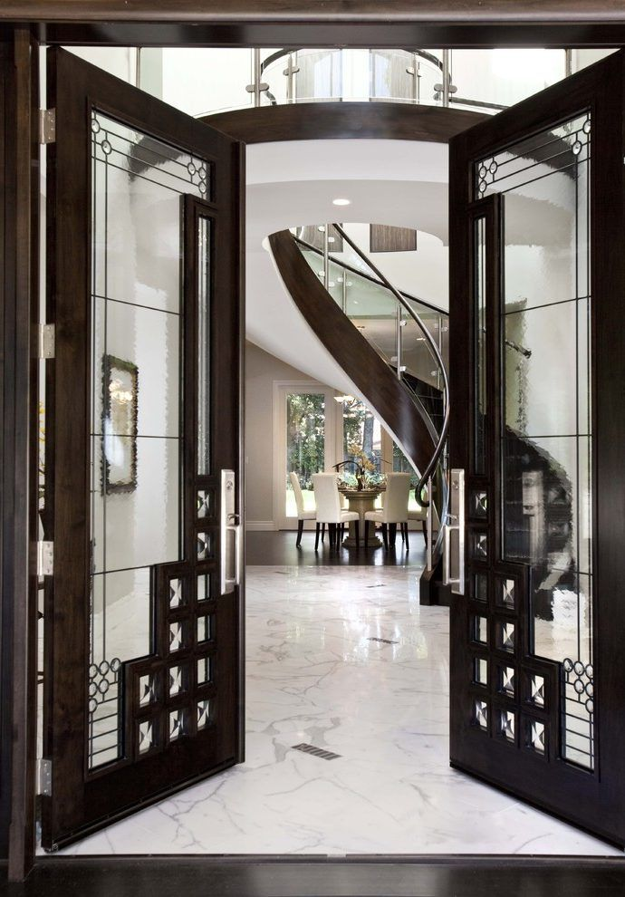 Doors Design: Art Deco House Entry Contemporary With Front Entrance