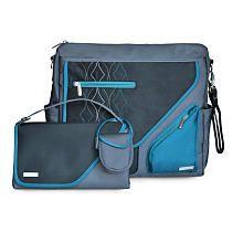 JJ Cole Metra Diaper Bag in Blue Diamond - $69.99 - ToysRus