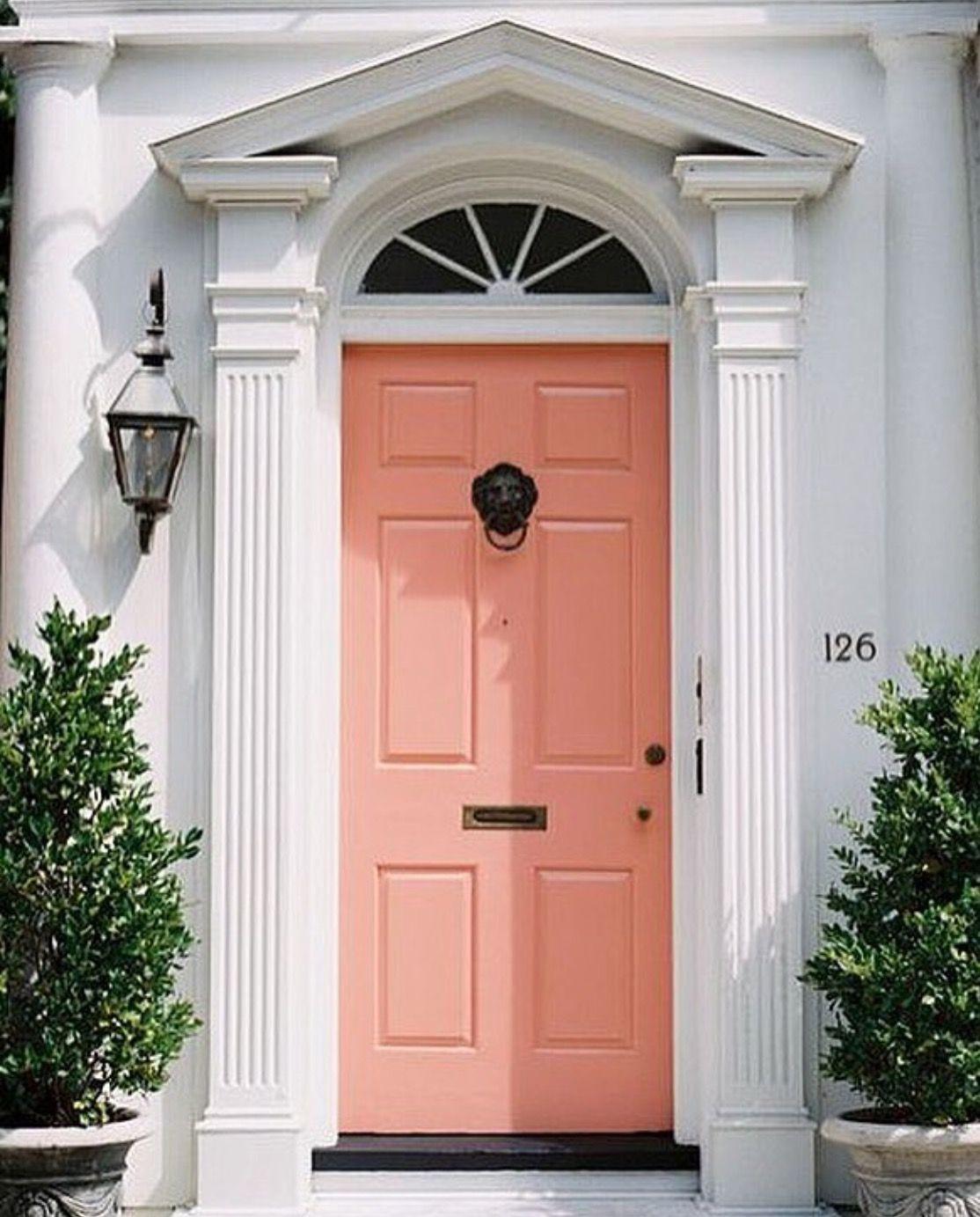 Pin By Evie On Dining Coral Door Coral Front Doors Front Door