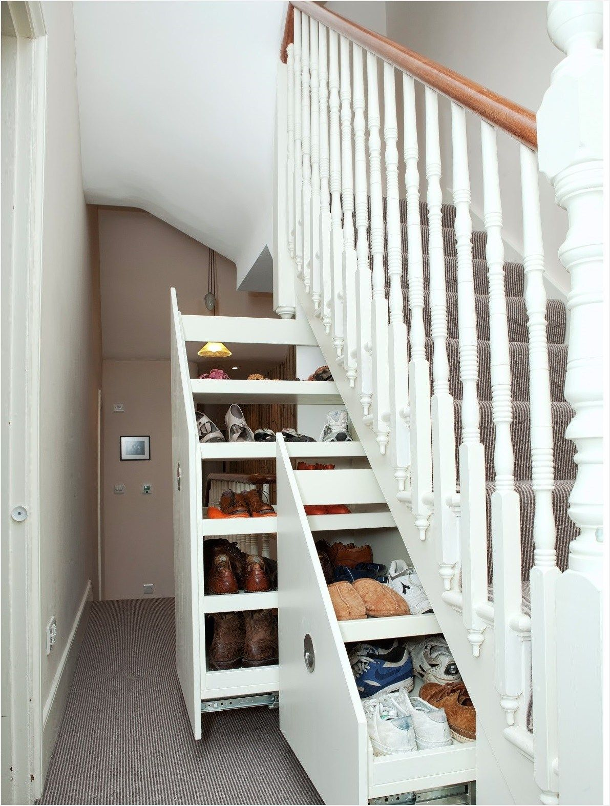 Best Creative Ideas For Small Spaces Home Stairs Design Understairs Storage Small House Storage 640 x 480