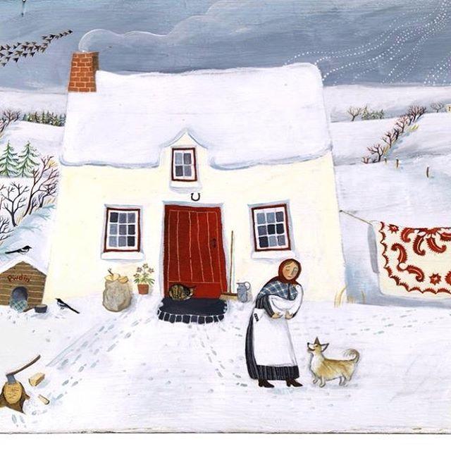 Nadolig Llawen o Gymru! 🐕 Merry Christmas from Wales! 🐕 Joyeux Noël du pays de Galles! #art #illustration #valerianeleblond #noel #christmas #nadolig #corgi #quilt #goose #snow #eira #cwilt #applique