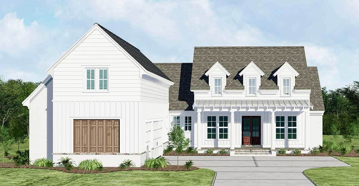 Plan 510028wdy Country House Plan With Courtyard Garage And Bonus Above Courtyard House Plans New House Plans Country House Plan